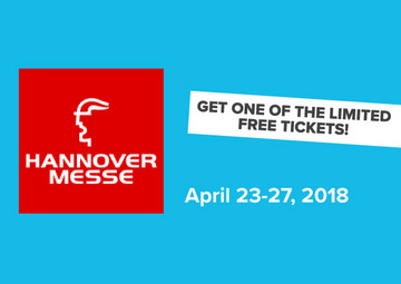 Get one of the limited free tickets | Hannover Messe 2018 - T.CON